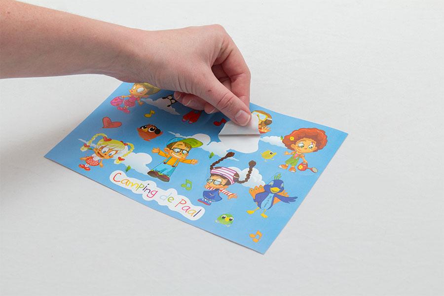 Papieren stickers